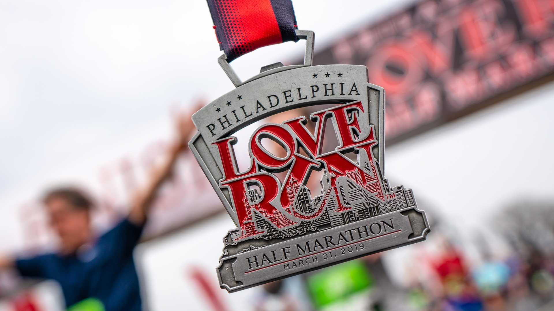Philadelphia Love Run Medal by Always Advancing