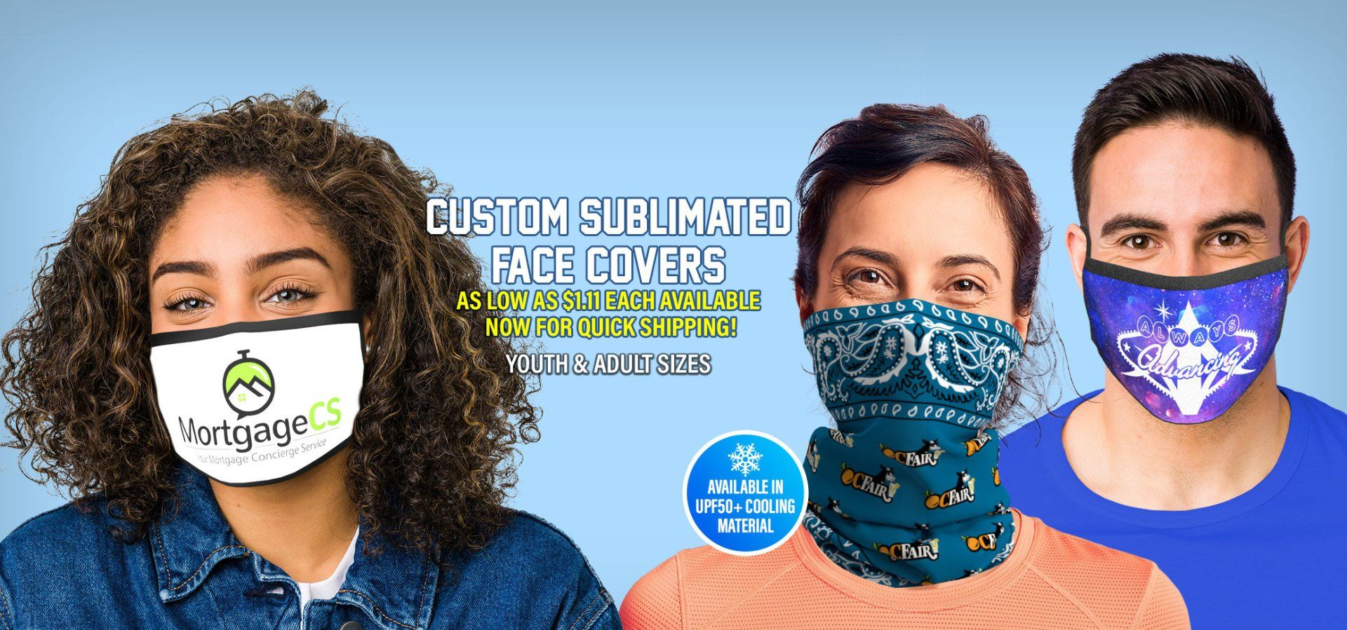 Custom Sublimated Face Covers