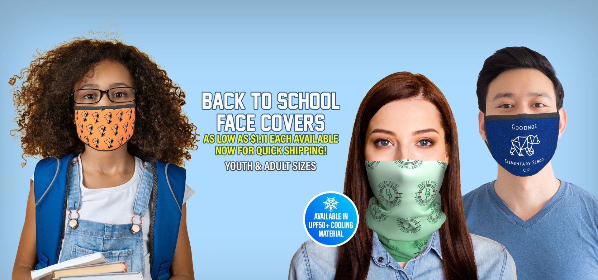 Face Masks & Face Covers for Back to School