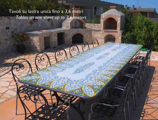 Tavoli In Maiolica Da Giardino.Tavoli In Pietra Lavica Catania Euro Lavic