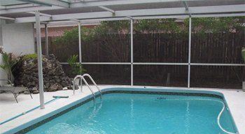 Vero Beach Fl Concrete Patio Pool Screen Company Michels Screening
