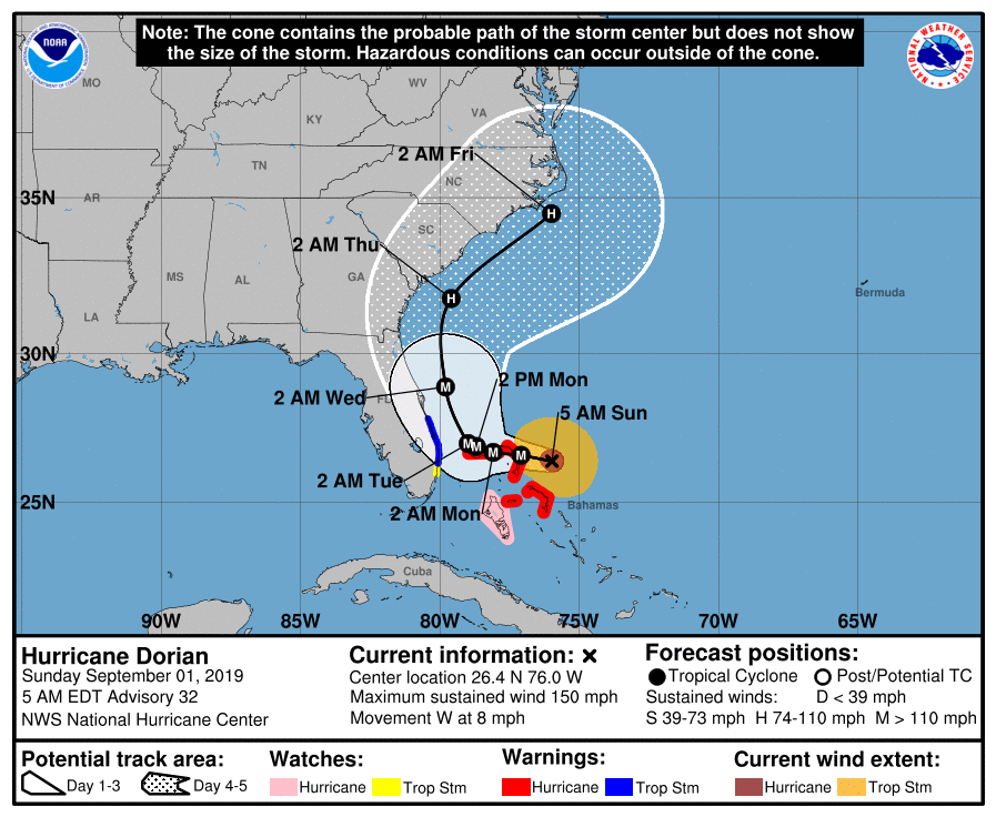 Tropical Storm Dorian Forming - Update