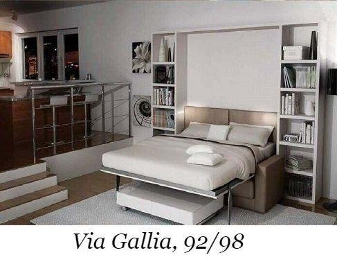 Letto Matrimoniale Alto Da Terra.Letti A Scomparsa A Roma Via Gallia 92 98 Mini Cucine Armadi E