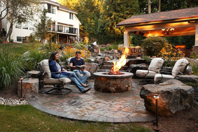 Outdoor Fire Pits Alderwood Landscaping Spokane Wa