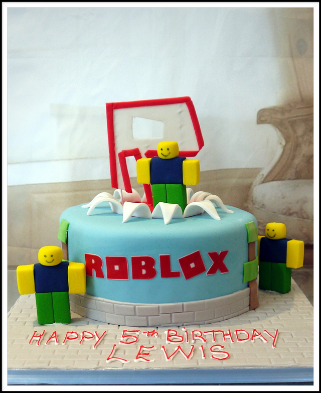 Roblox Cake For Boy Roblox Buttercream Cake
