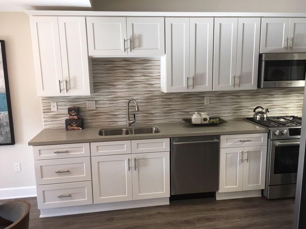 seamless white shaker rta cabinets | gallery home design