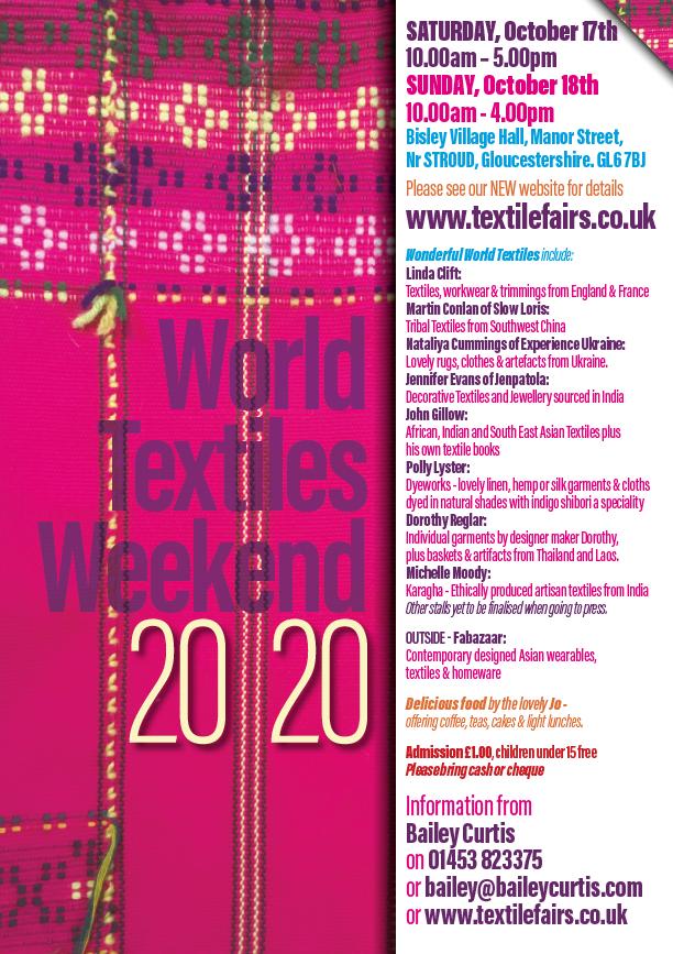 World Textiles Fair Bisley 2020