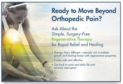Regenerative Therapy Banner — Virginia Beach, VA — Advanced Orthopedics