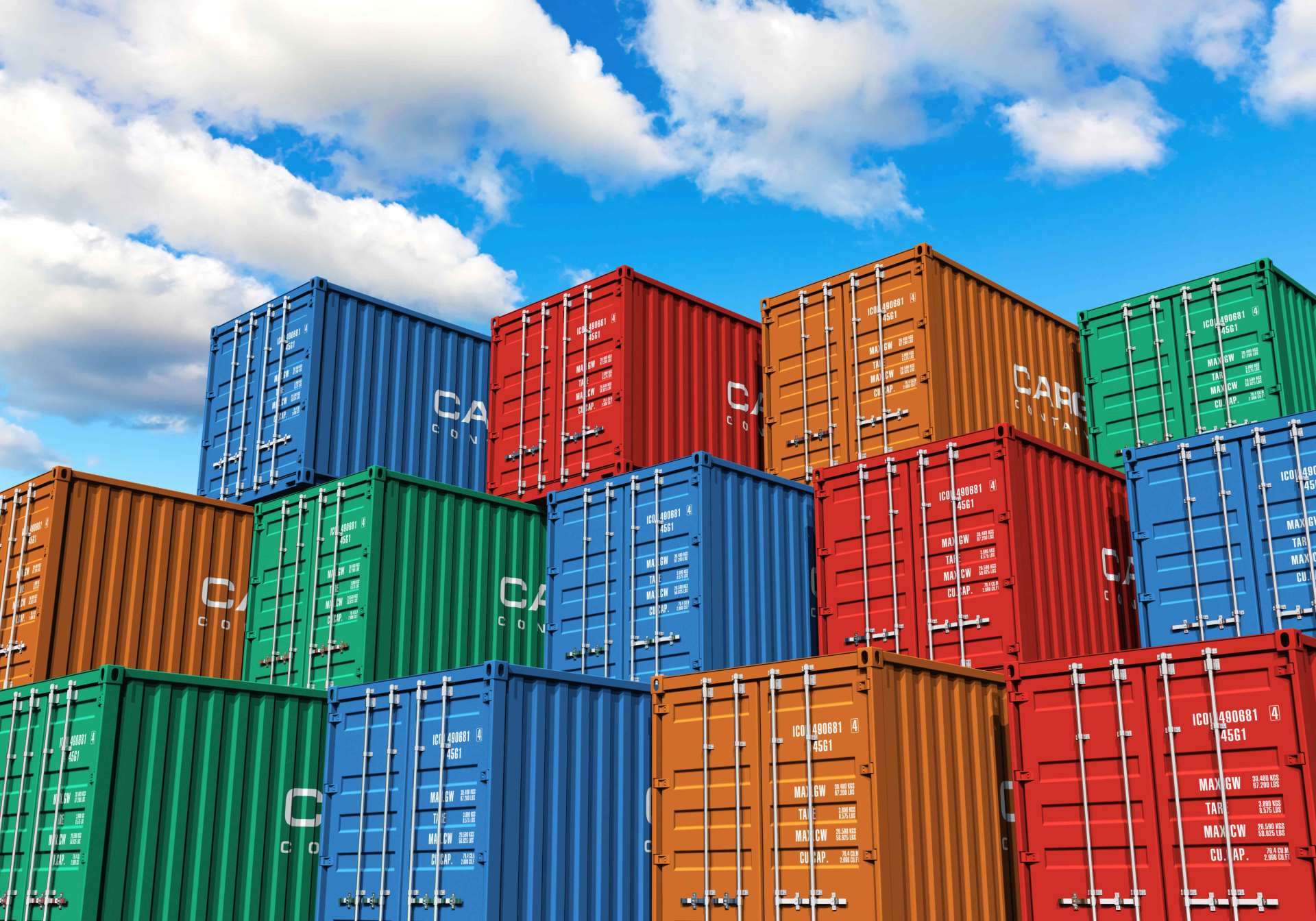 Import — Pile of Containers in W. Palm Beach, FL