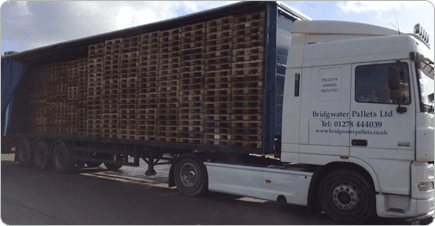 Pallets on the back of a BWP truck, ready to be offloaded