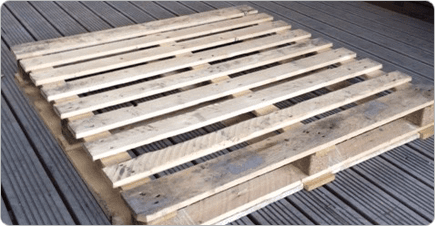 A non standard sized pallet