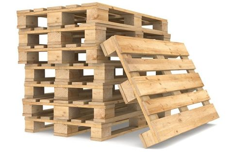 A stack of new pallets
