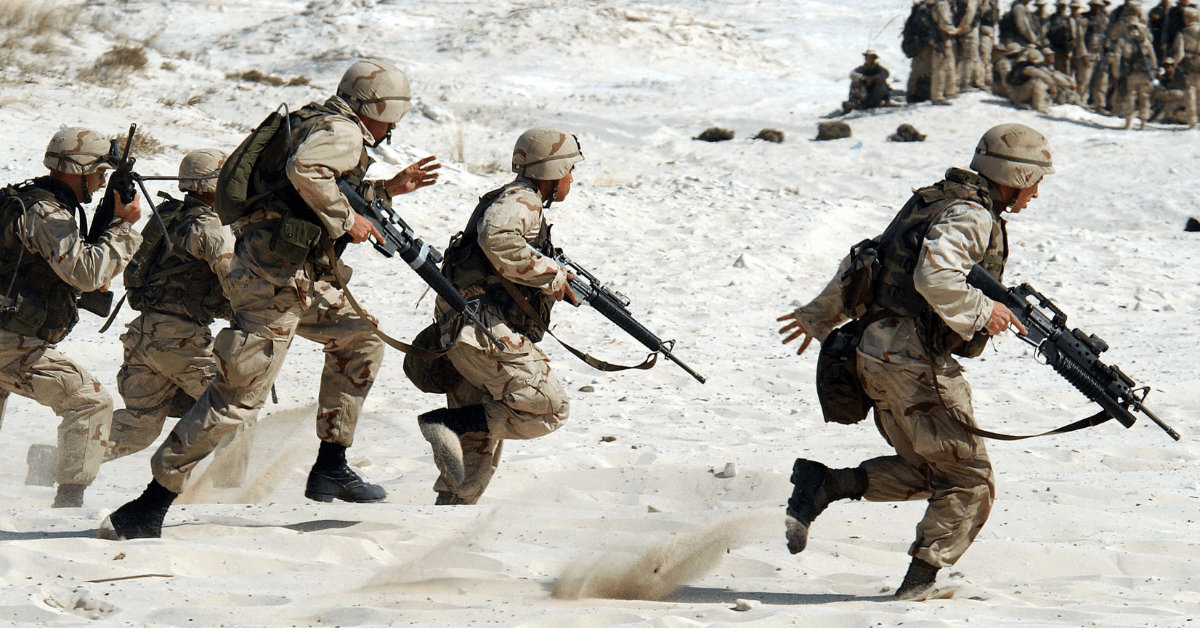 soldiers on beach