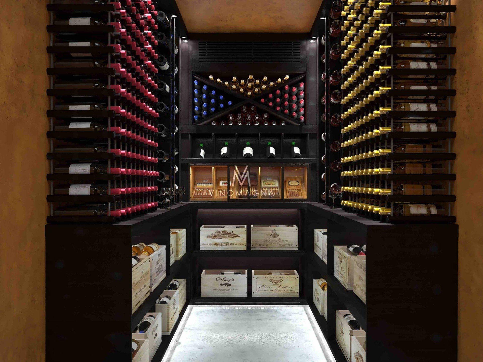 Basement Custom Wine Cellar