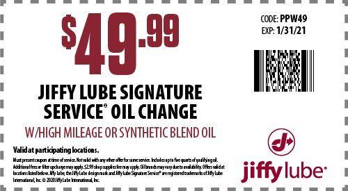 Oregon Jiffy Lube Oil Change Coupons Automotive Maintenance