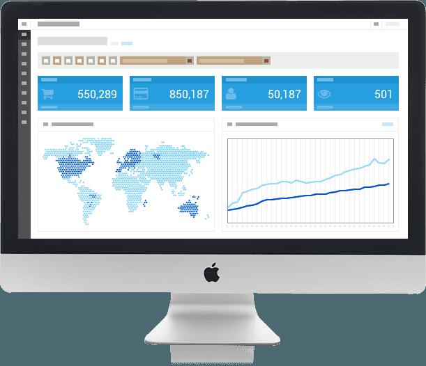 Marketing and Statistics on iMac