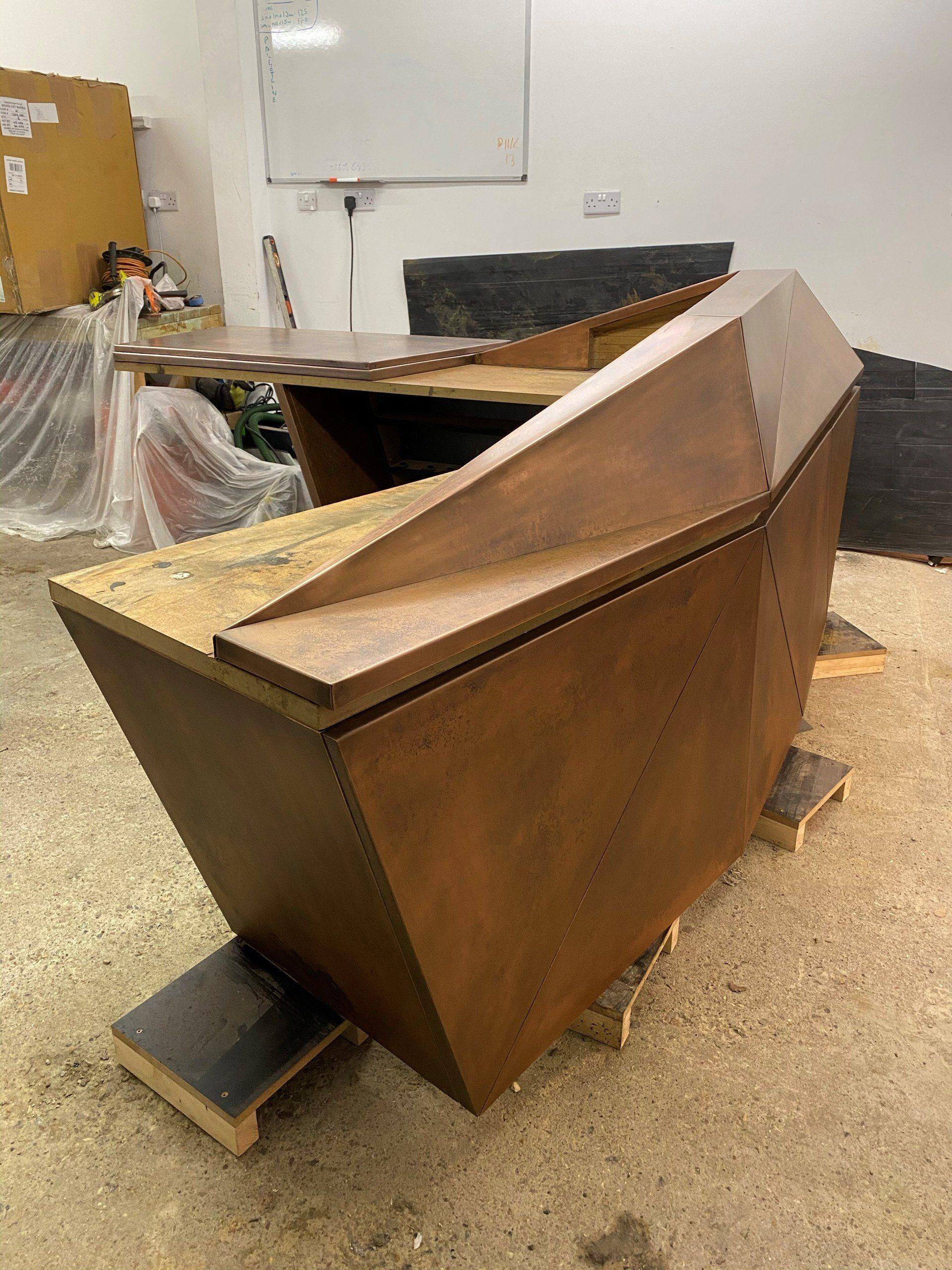 Copper Bar Tops, Zinc Bar Tops, UK: Inzinctive Interiors
