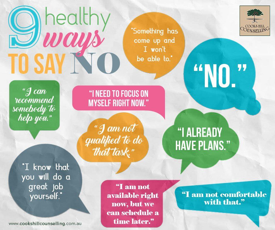 Saying no the healthy way