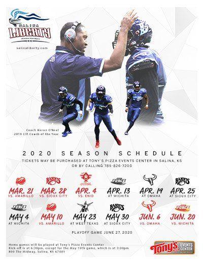 Salina Liberty Indoor Football Schedule