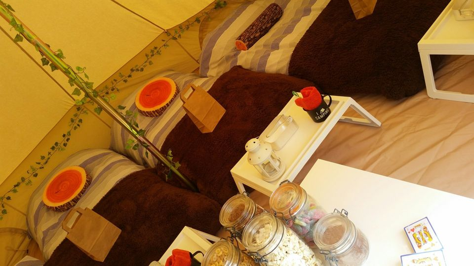 beds, rugs, jars, tea table and much more