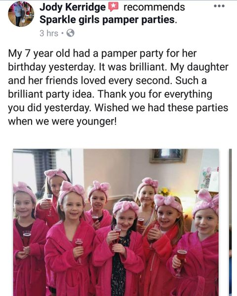 pamper party for young girls