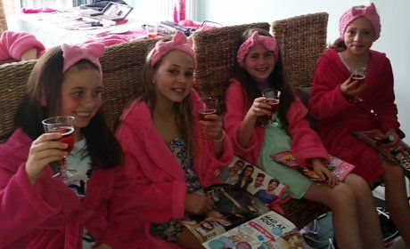 pampering parties for the girls