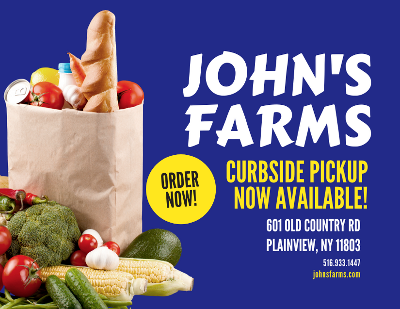 John S Farms Market Grocery Curbside Pickup Available Plainview Ny