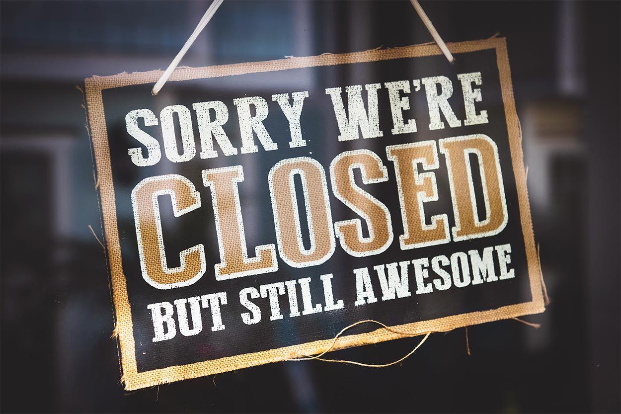Closed blog