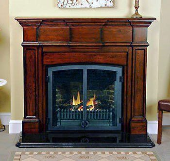 Fireplace Gas Insert Accessories Lafayette Concord Walnut