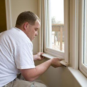 damaged windows being analysed