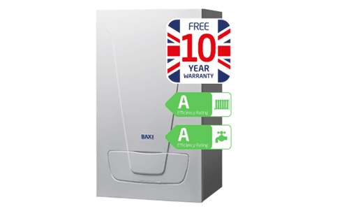 a boiler appliance with a 10 year warranty