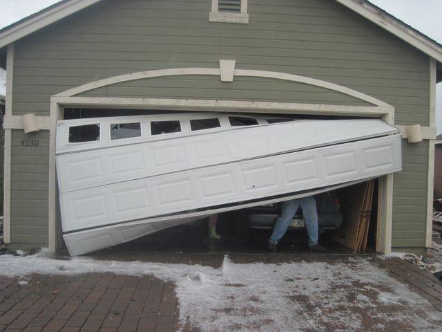 Broken Garage Door Rancho Cucamonga Ca Cf Doors