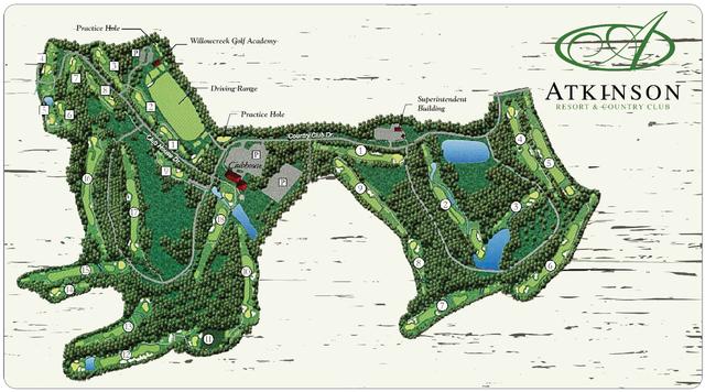 Atkinson Resort Golf Course Layout
