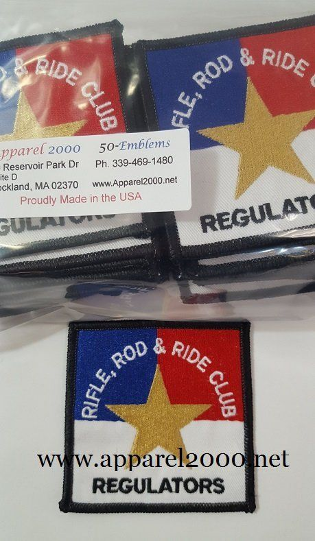 Rod & Gun club patches