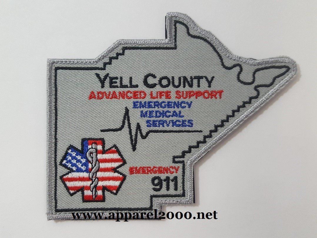 EMS Rescue Fire Patches