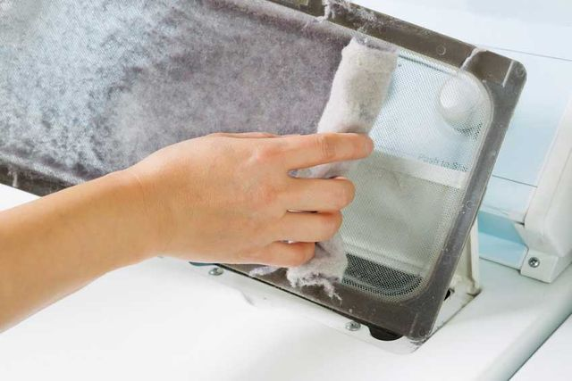 Cleaning Out Your Dryer Lint Trap