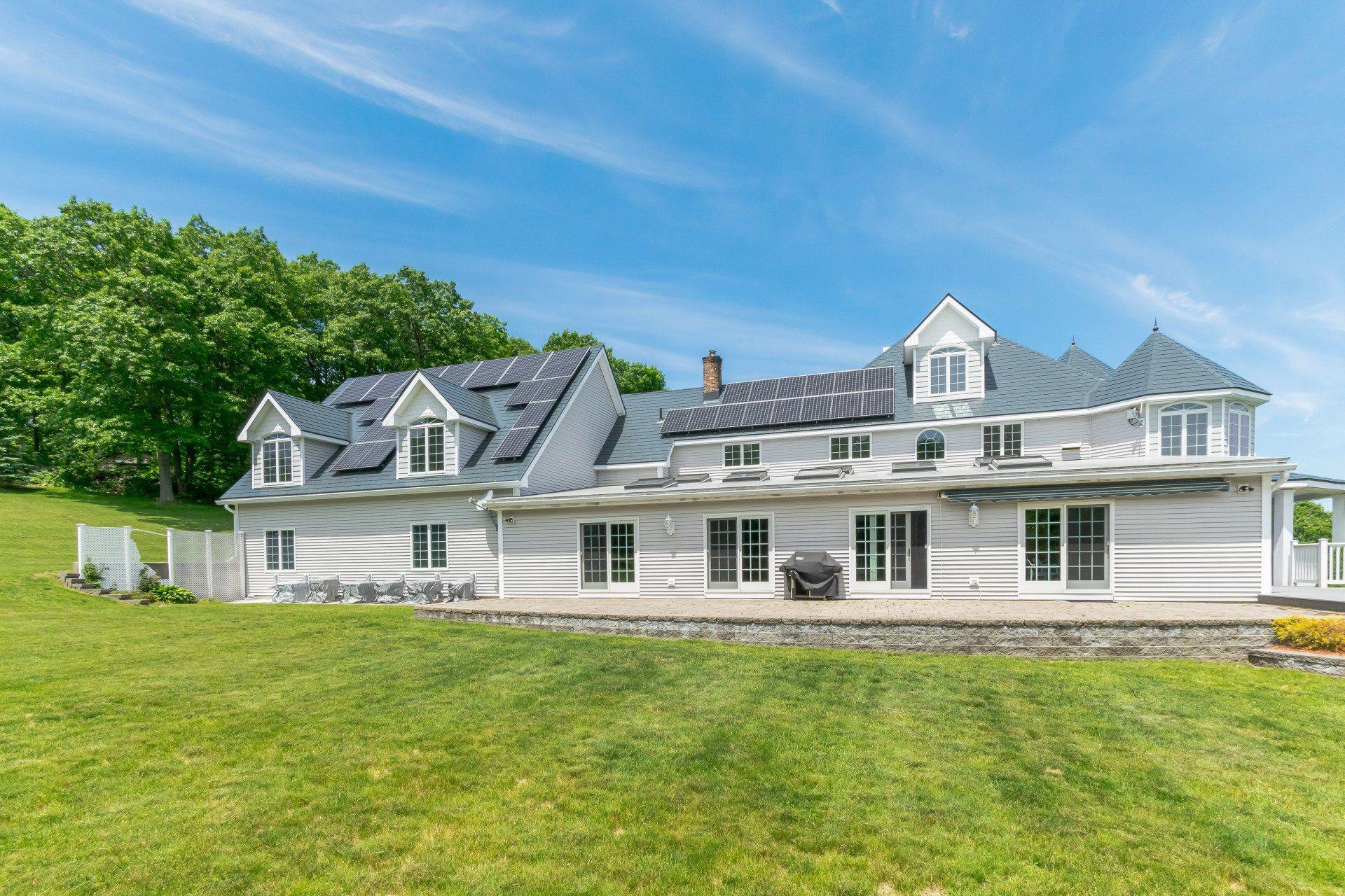 Princeton Ma Deep Charcoal Interlock 174 Metal Slate Roof W