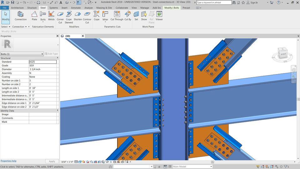 custom steel connection design