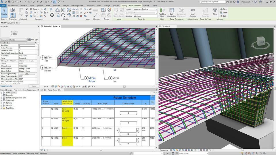 3d software for rebar shape design