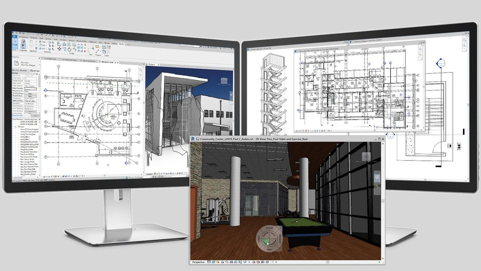 3d software with multiple view