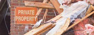 Debris at private property