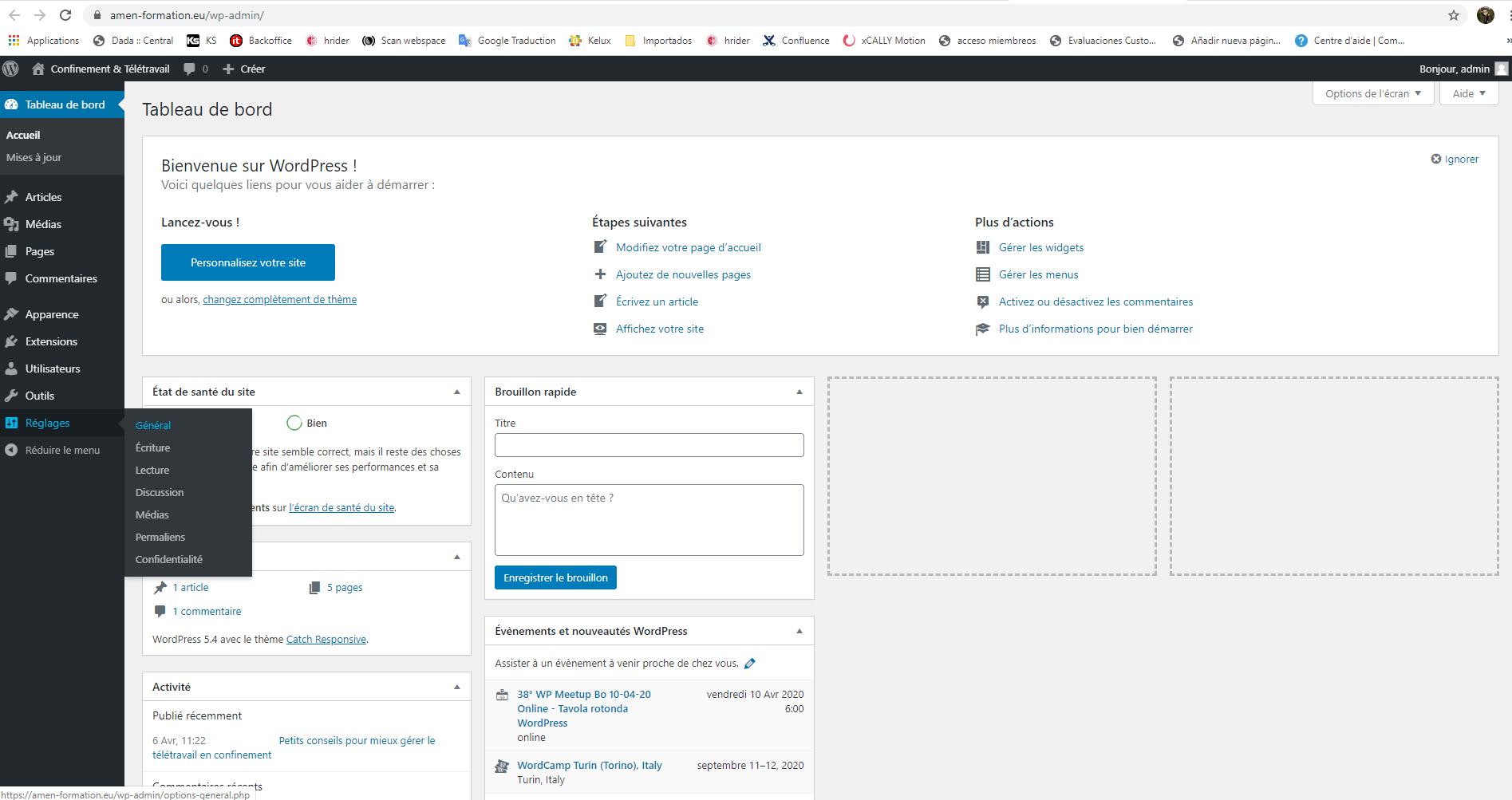 Changement De L Url D Un WordPress Depuis Le Tableau De Bord