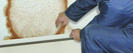 Covering holes with waterproof plaster