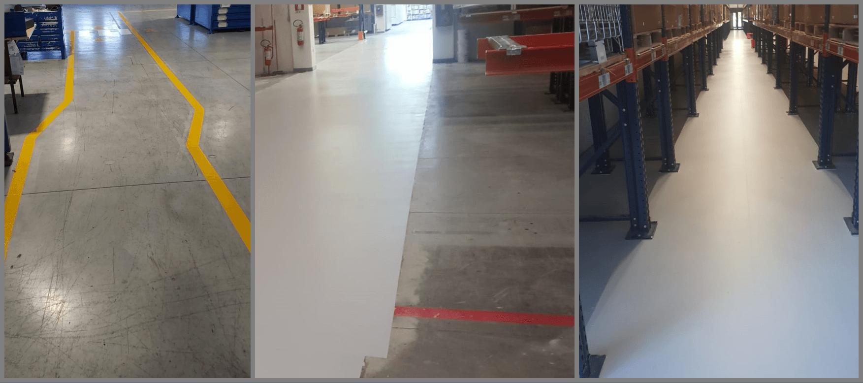 pavimentazione in resina azienda produzione ricambi auto