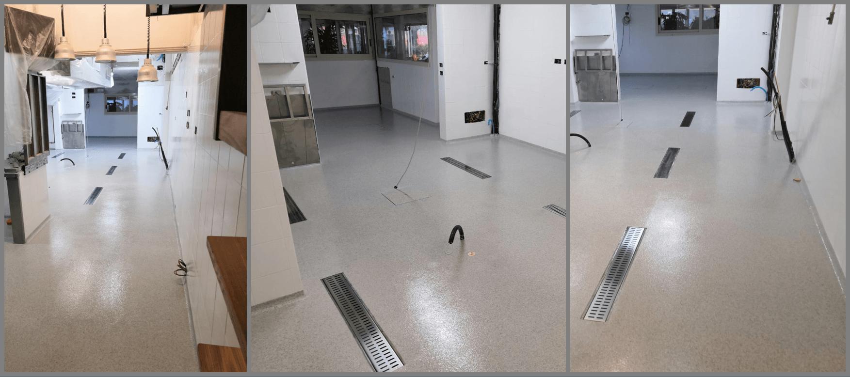 pavimentazione in resina cucina ristorante