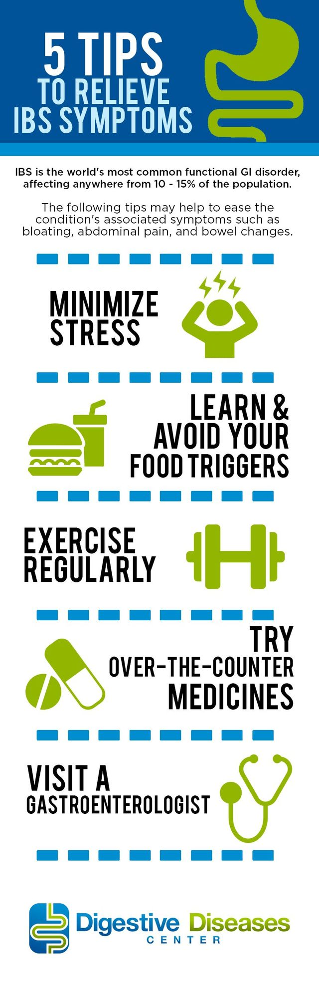5 Tips To Relieve Ibs Symptoms Infographic