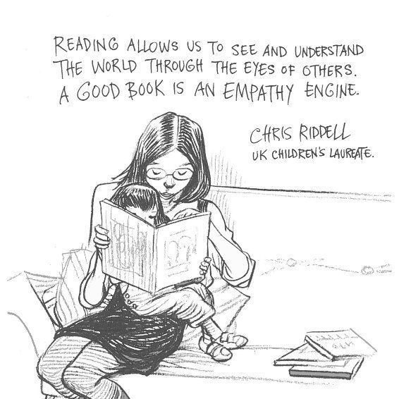 The empathy-building power of reading beautifully illustrated for us by Children's Laureate, 2015 - 2017, Chris Riddell.
