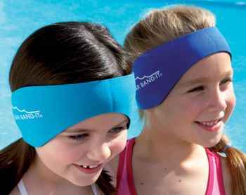 Doctor Recommended Ear Band-it Swimming Headband with Putty Buddies earplugs 6 Pair