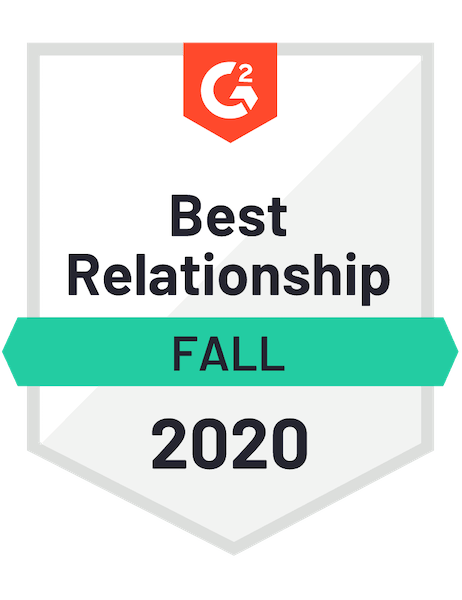 Duda Awarded G2 Fall 2020 Best Relationship Badge For Web Content Management Software