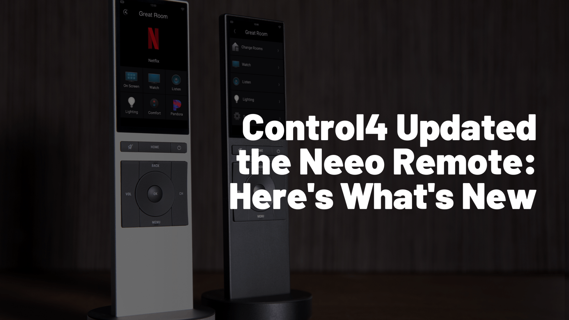 Control4 Neeo Remote Smart Home Update